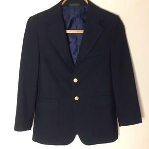Perry Ellis 2-Button Boys Navy Blue Blazer. EUC.